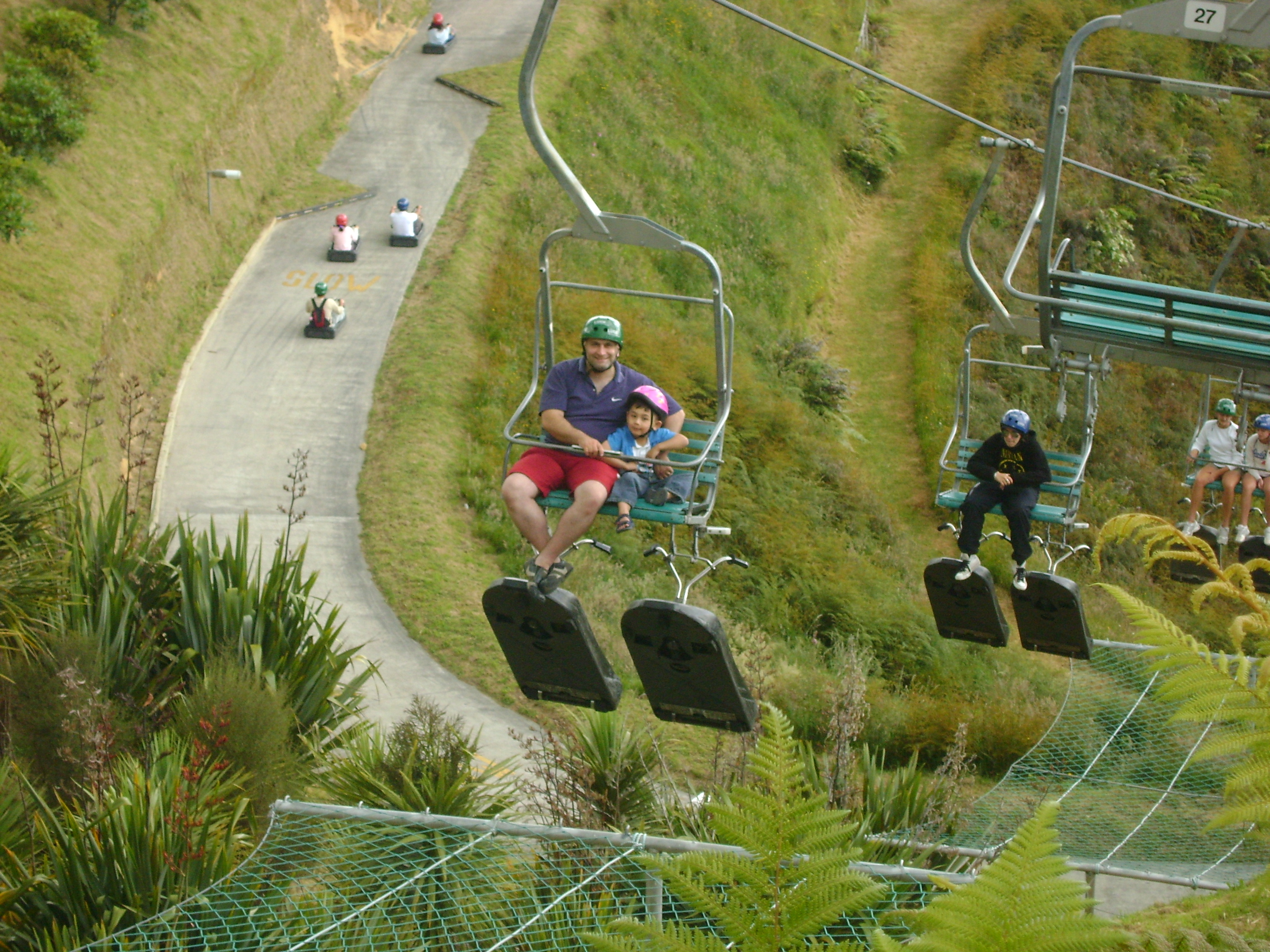 skyline chair lift and luge