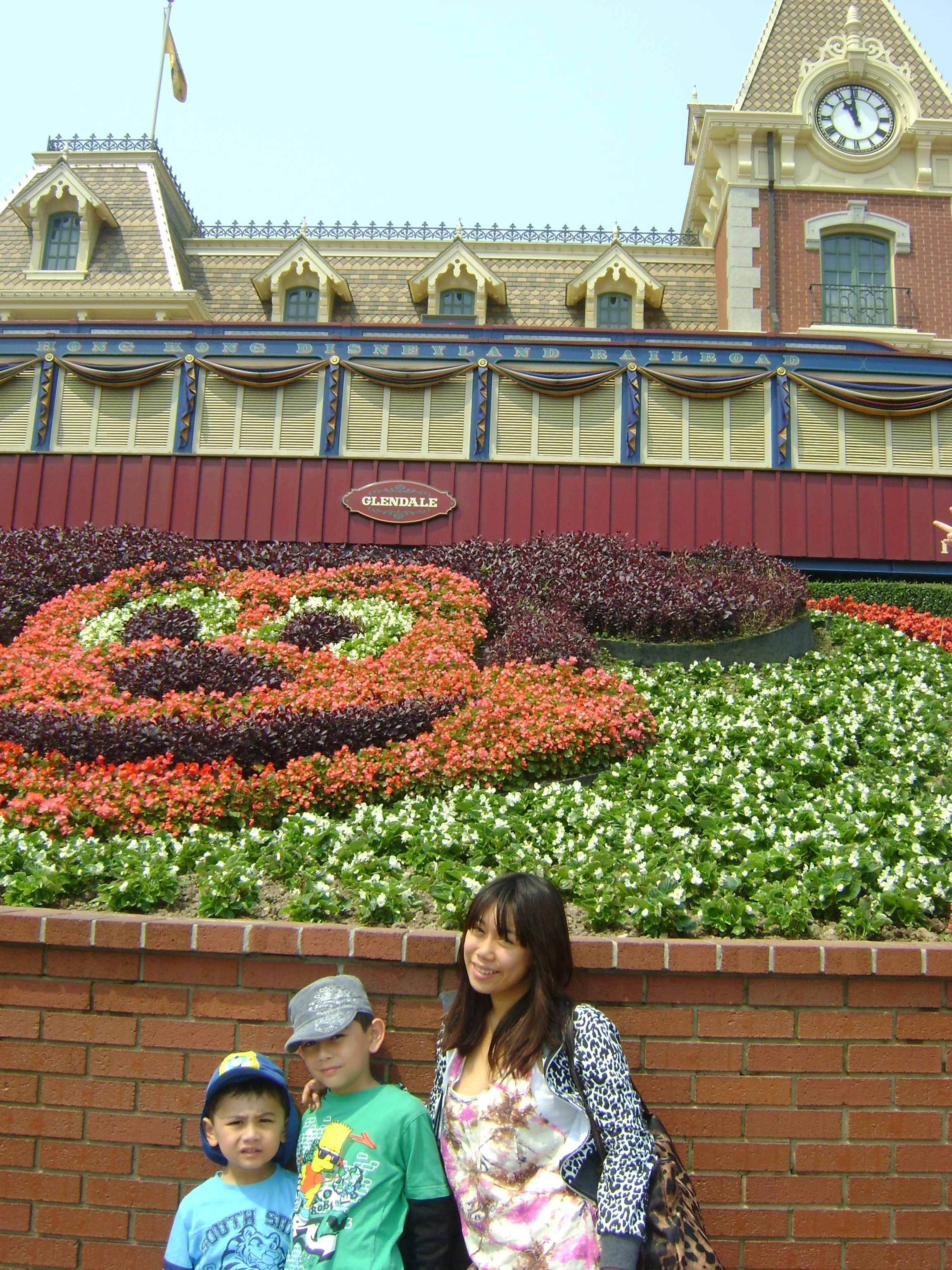 Mickey Mouse landscaping