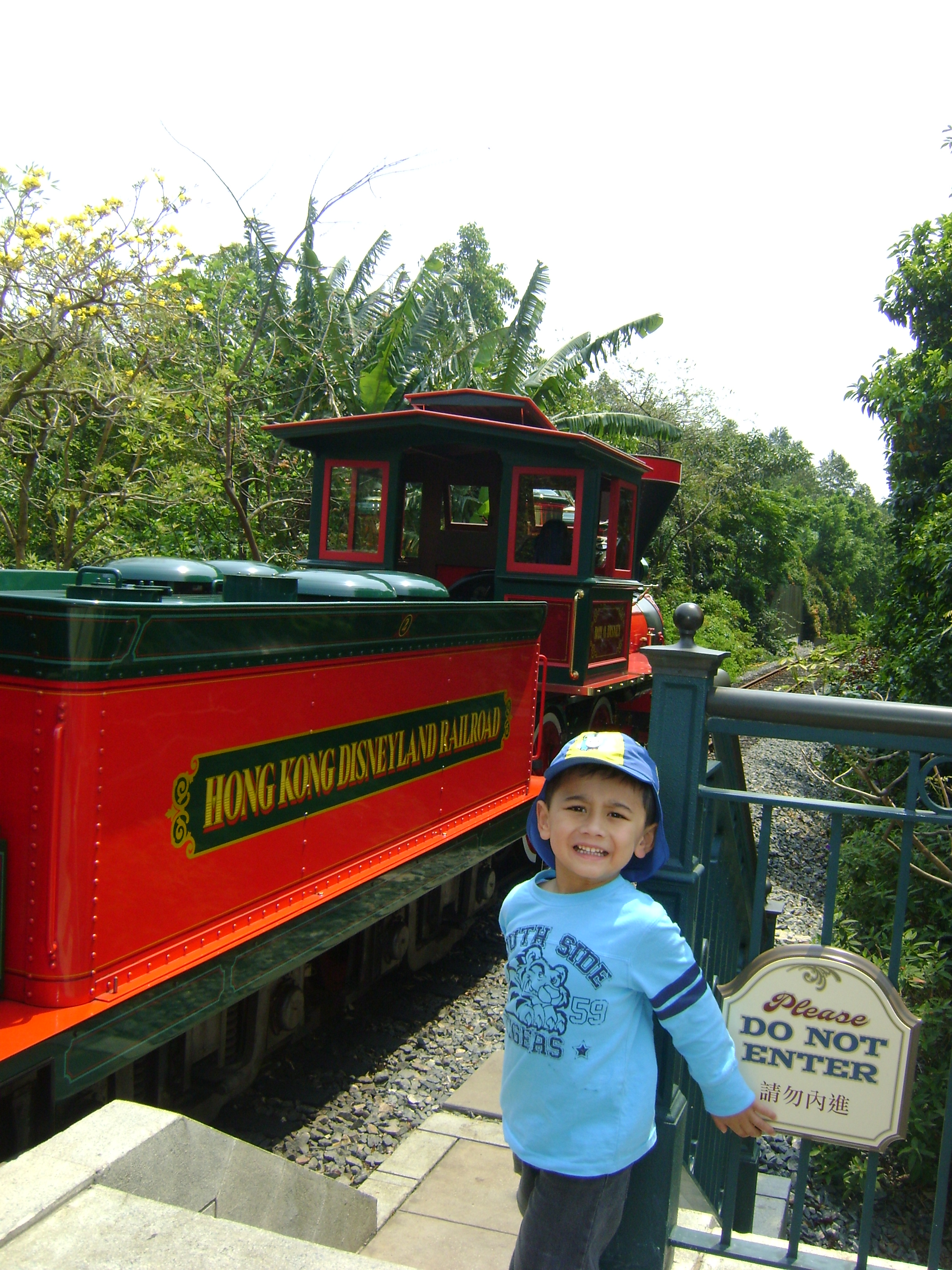 Hongkong Disneyland train