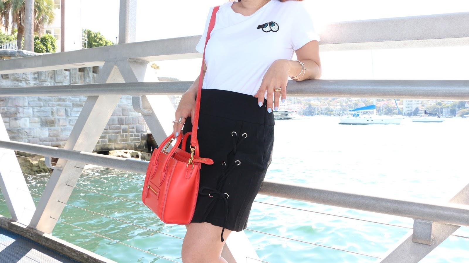 o-ring mini skirt