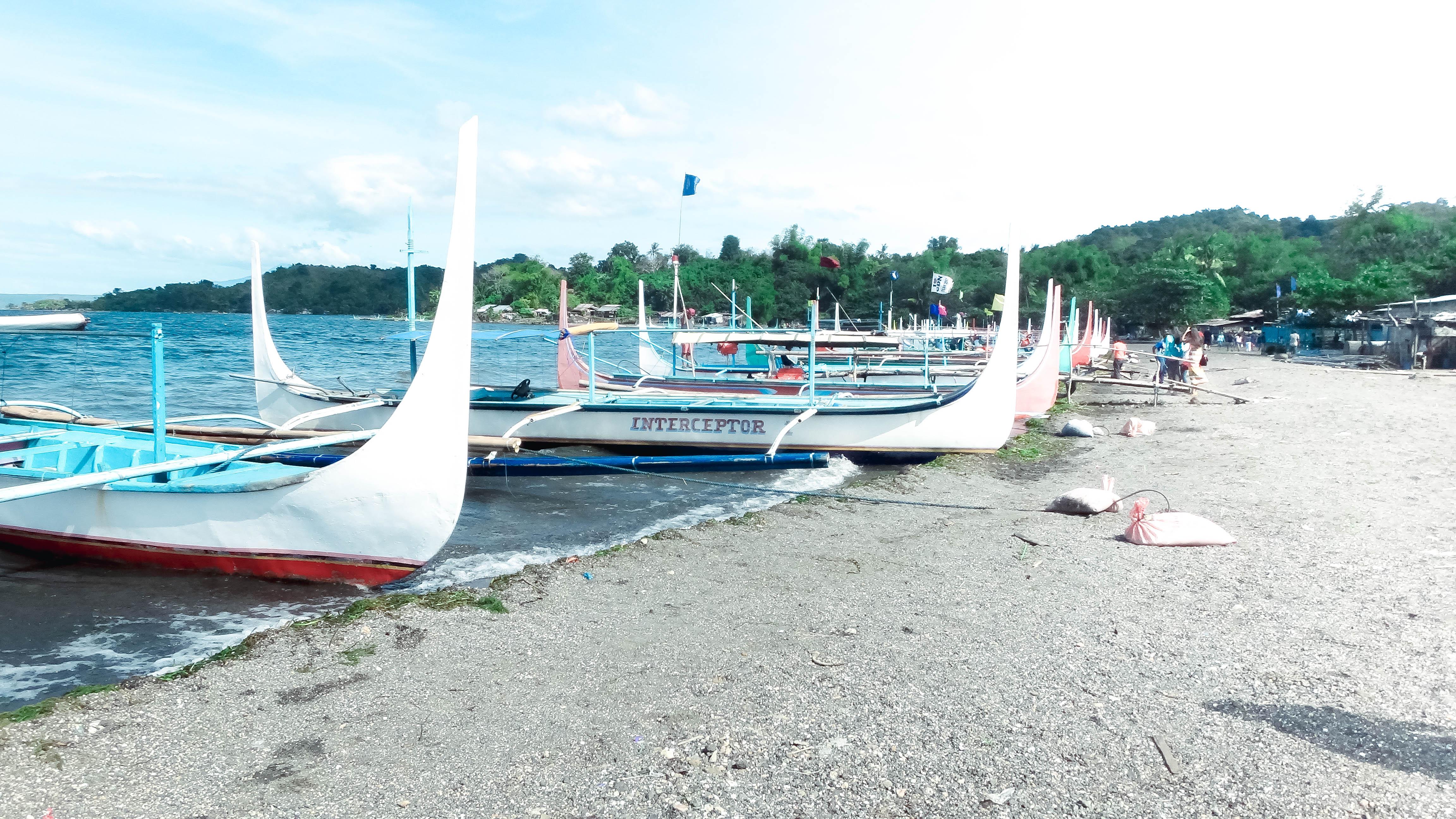 Boats in Tagaytay Lake