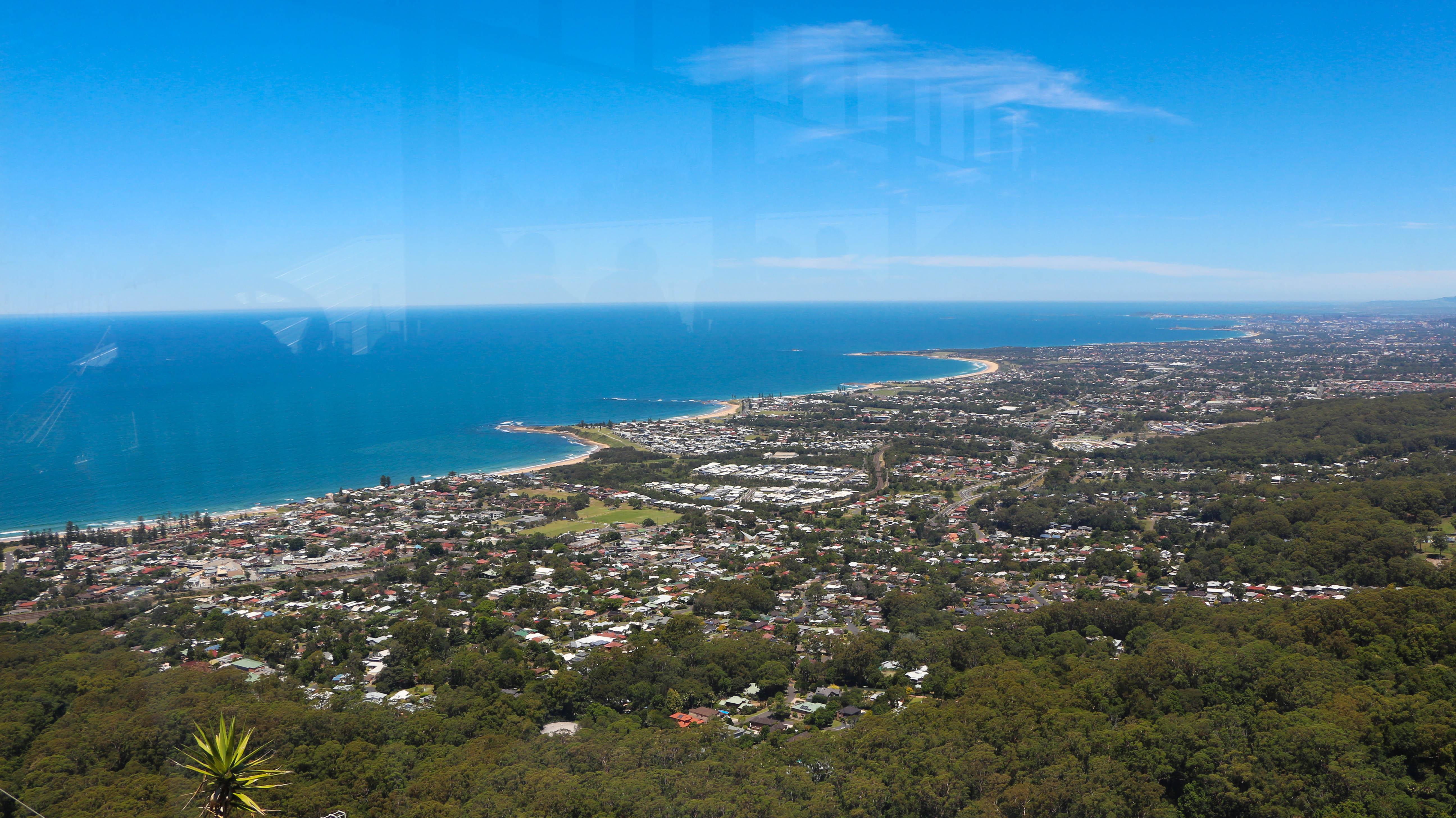 Panoramic views of Wollongong