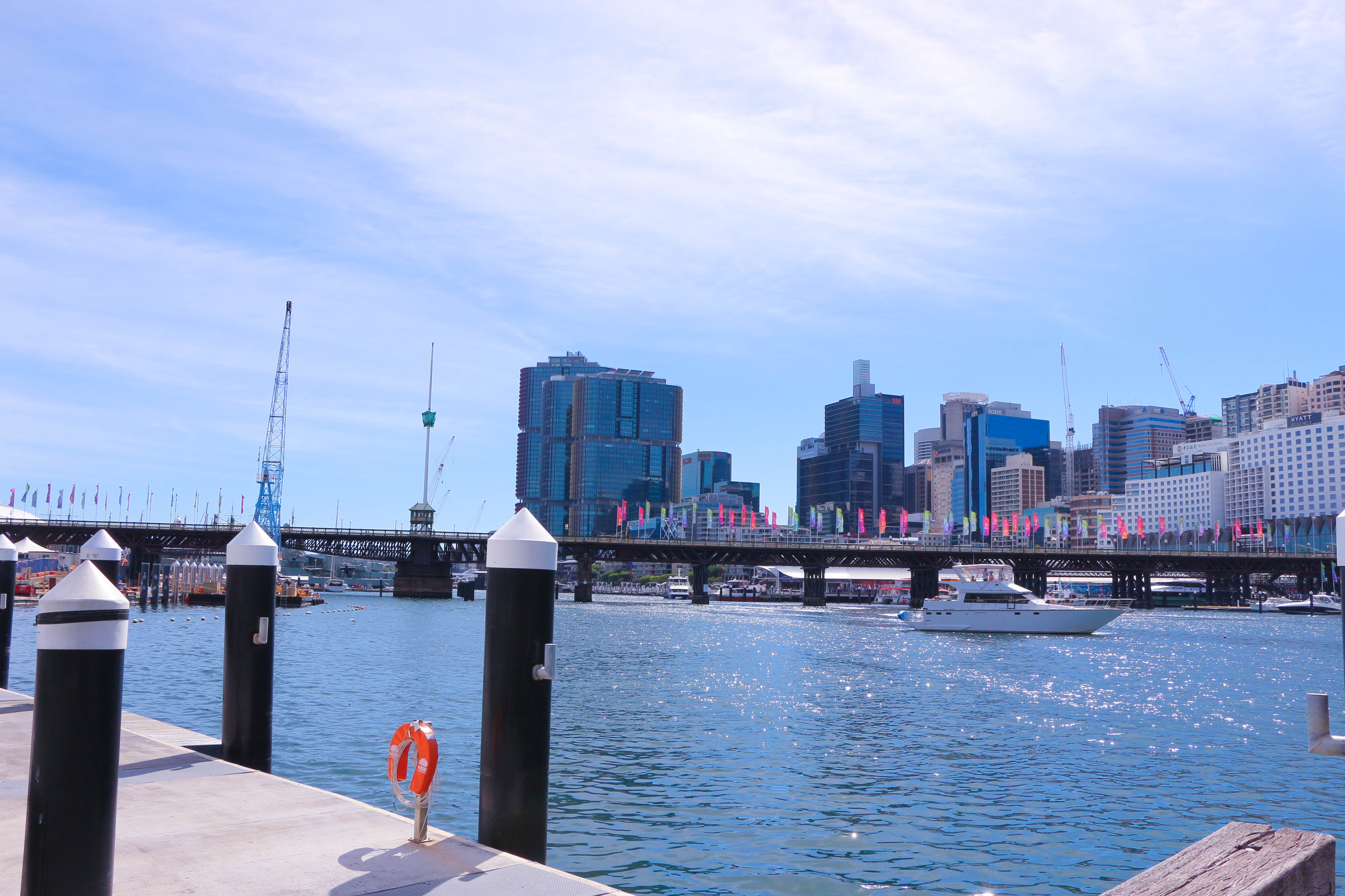Darling Harbour during the day