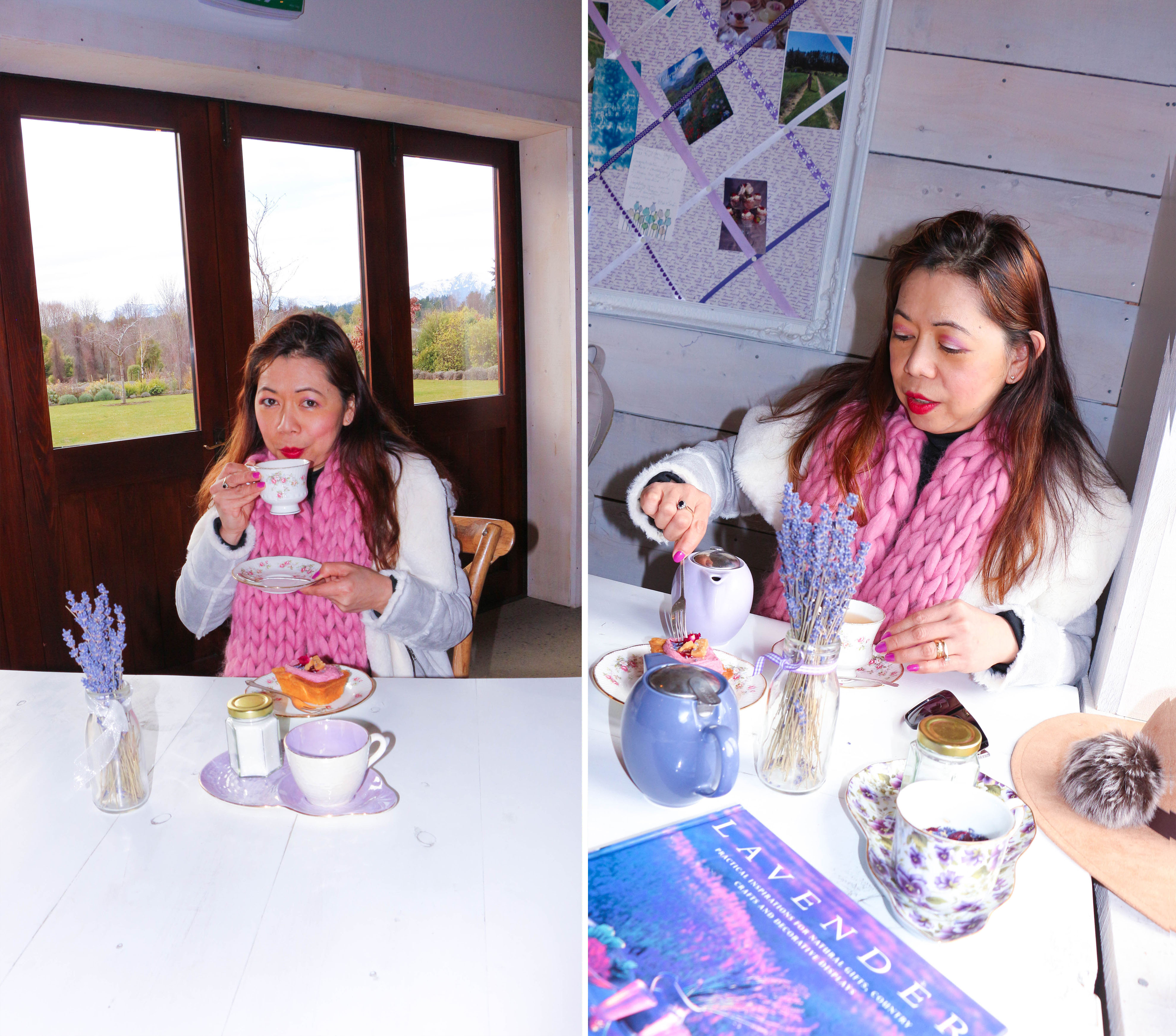 Lavender Tea and scone