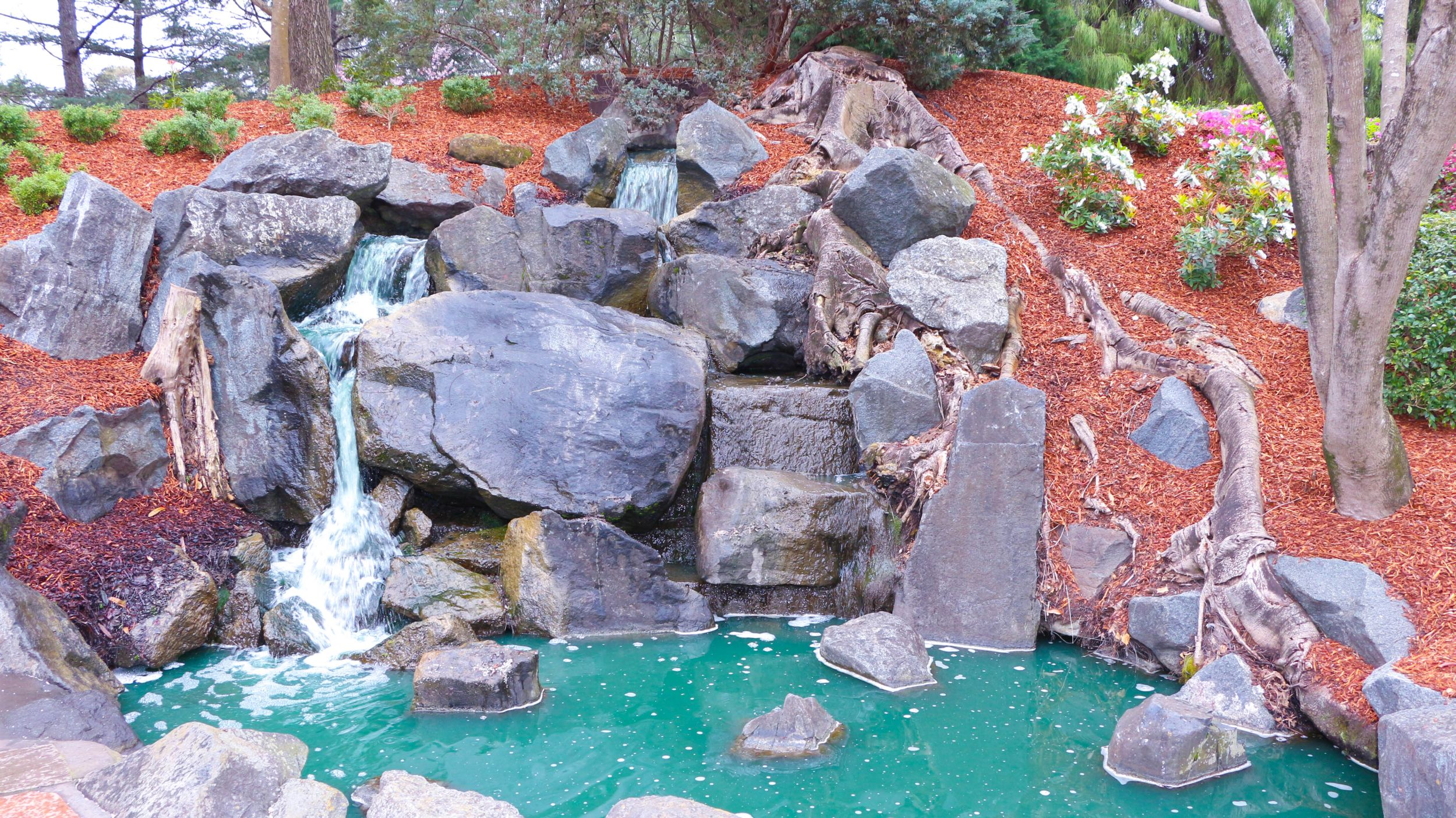 Auburn Botanic Garden waterfalls
