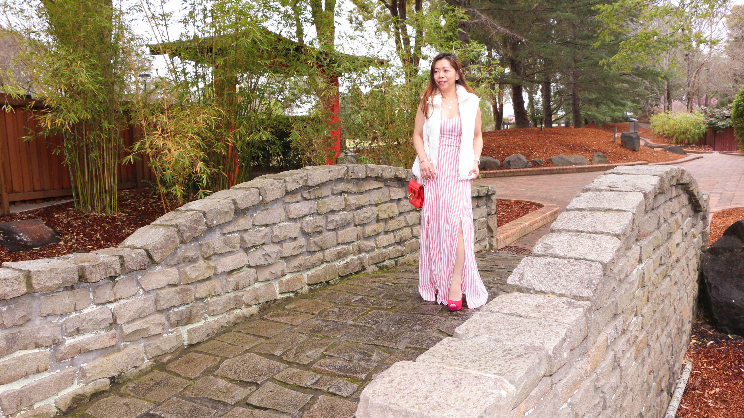 Stone bridge in Auburn Botanic Garden