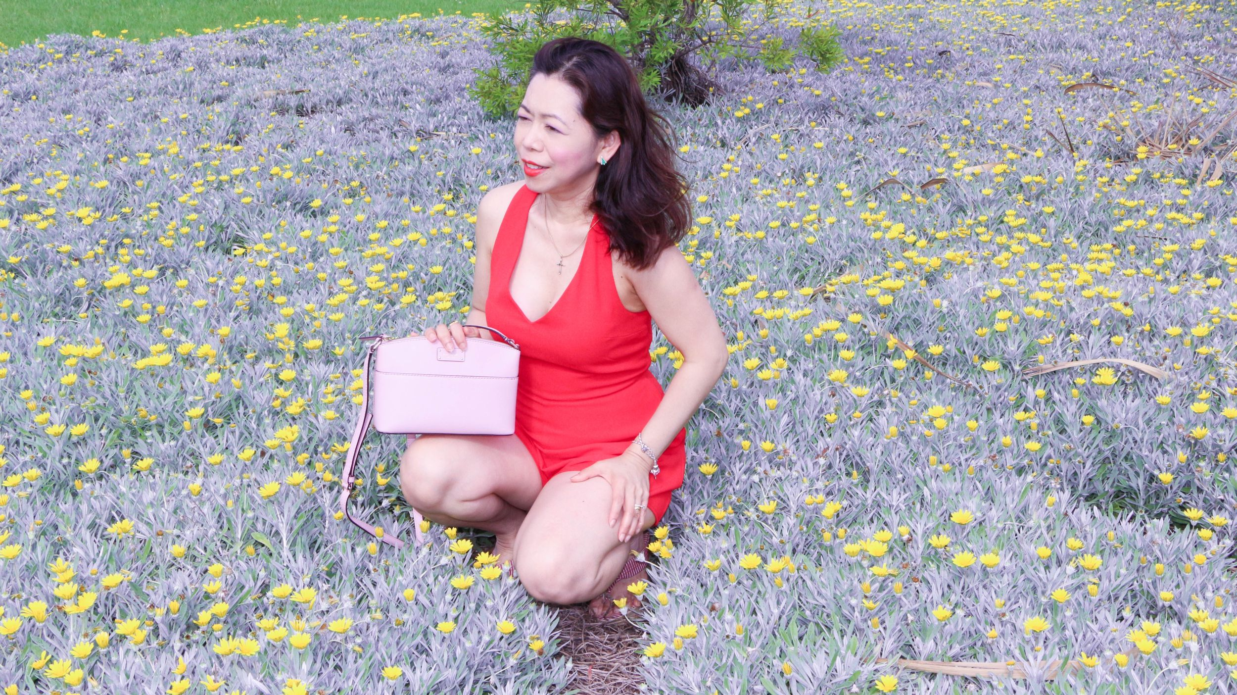 Red playsuit review