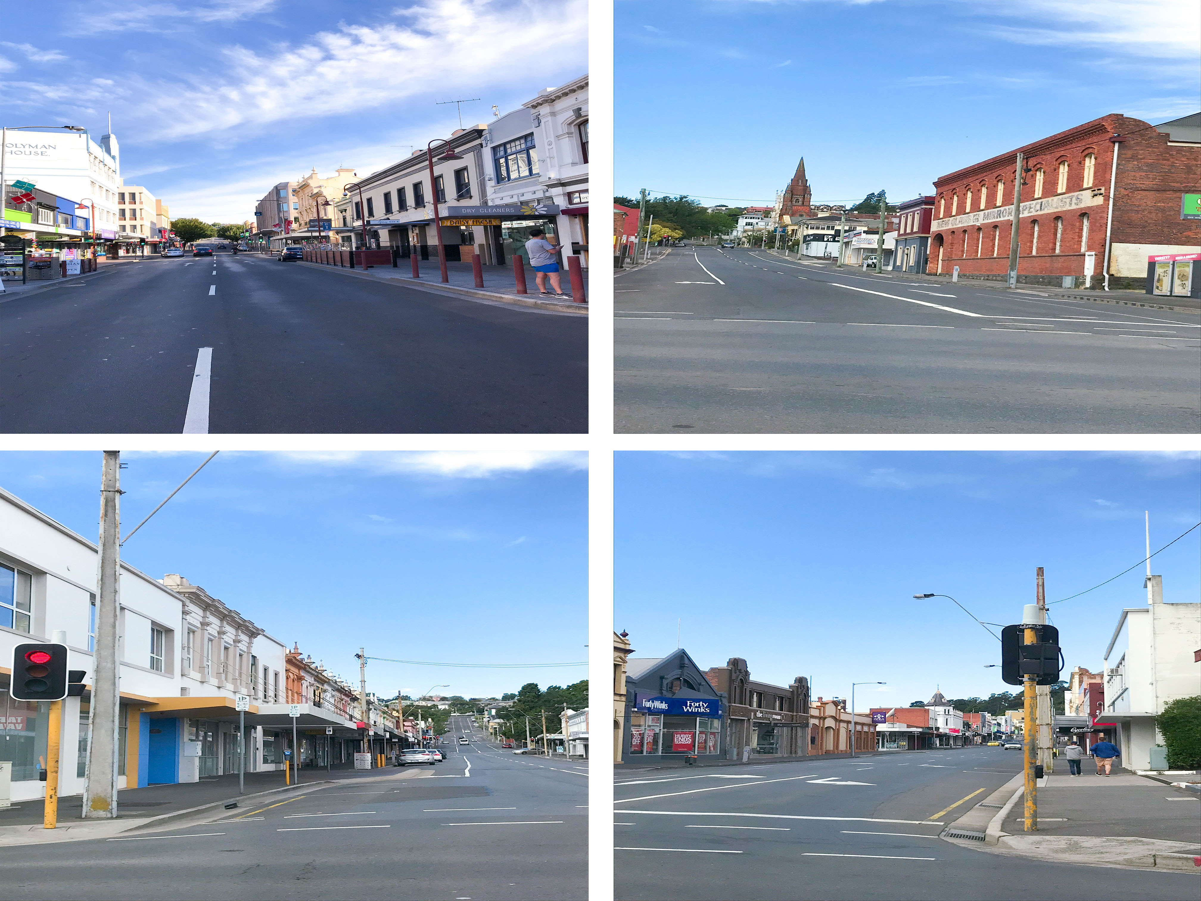 Streets in Launceston