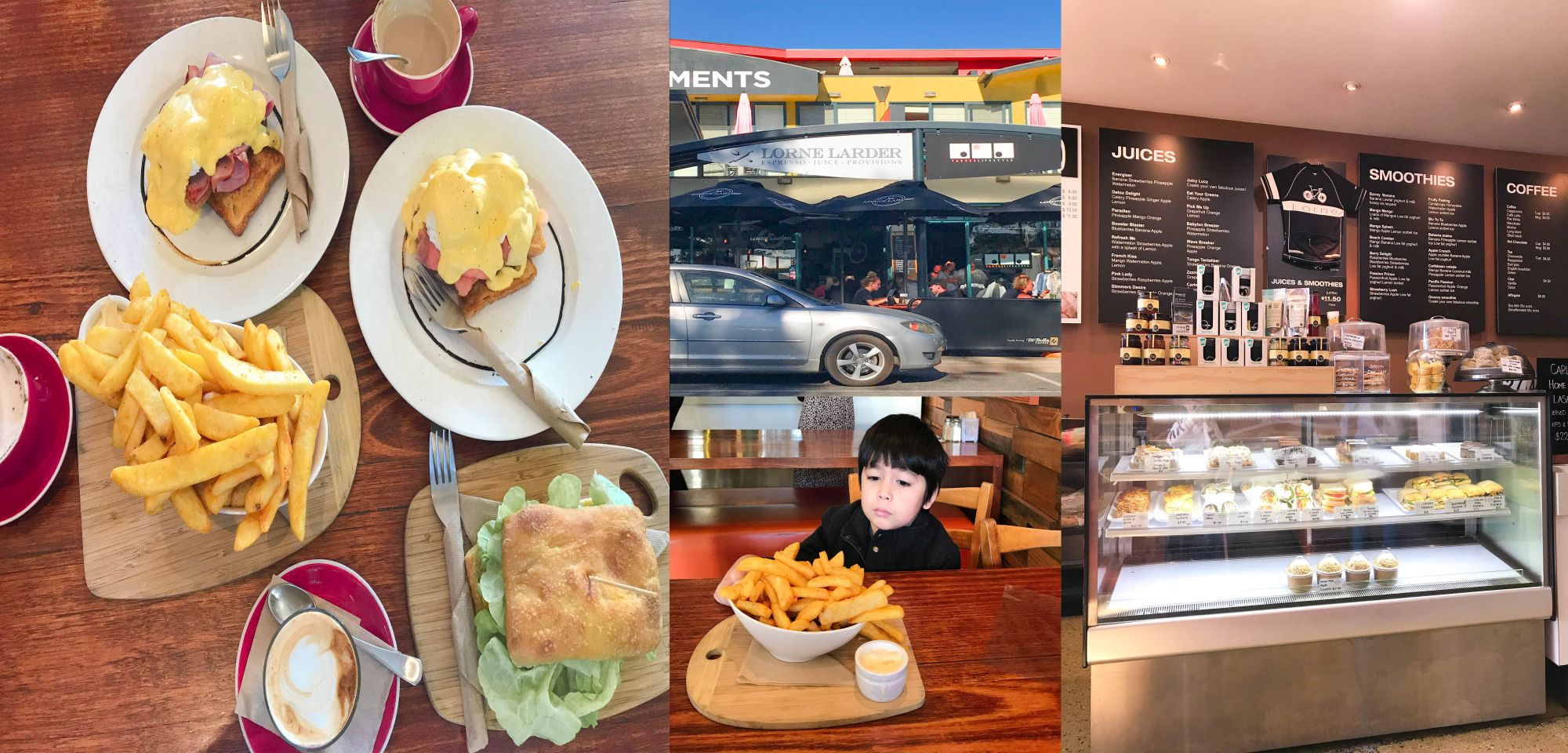 Where to eat at Lorne,Victoria