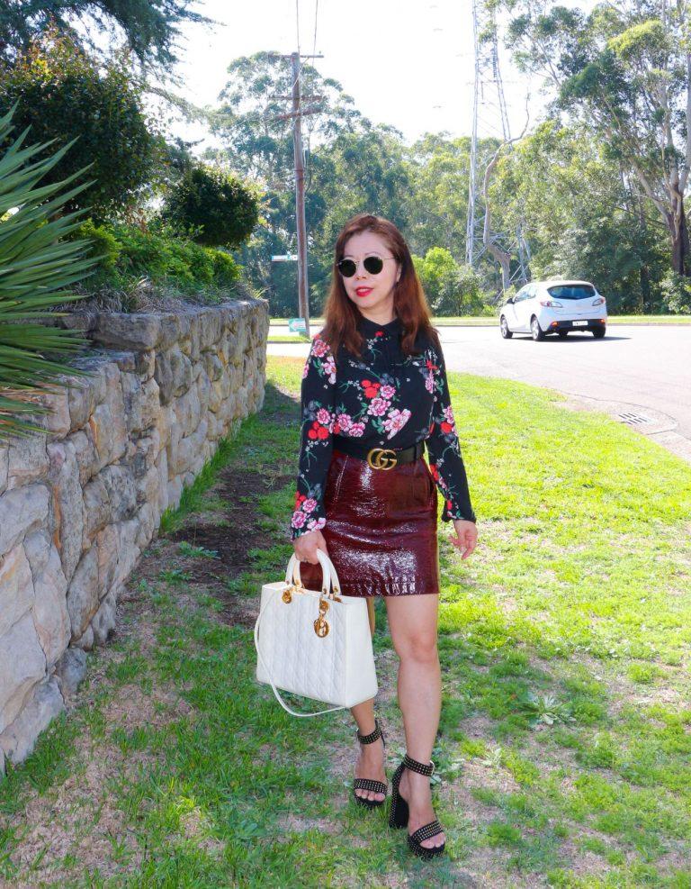 how to wear vinyl skirt