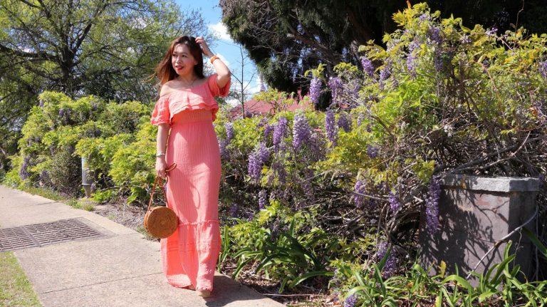 Ruffled maxi dress review