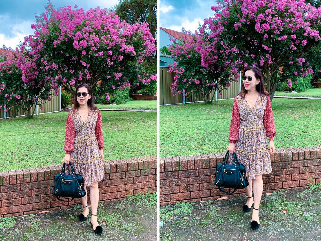 mixed floral dress review
