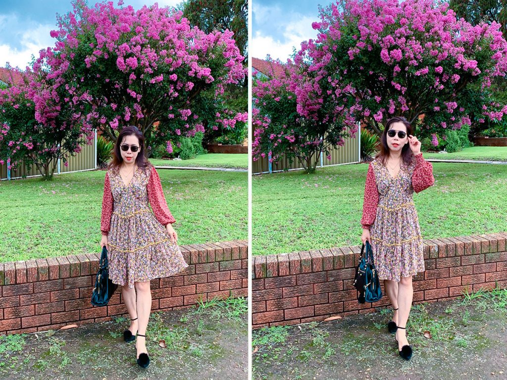 Mixed print outfit review